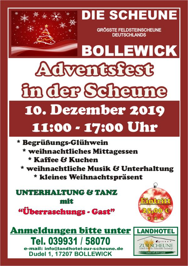 Plakat Adventsfest 2019