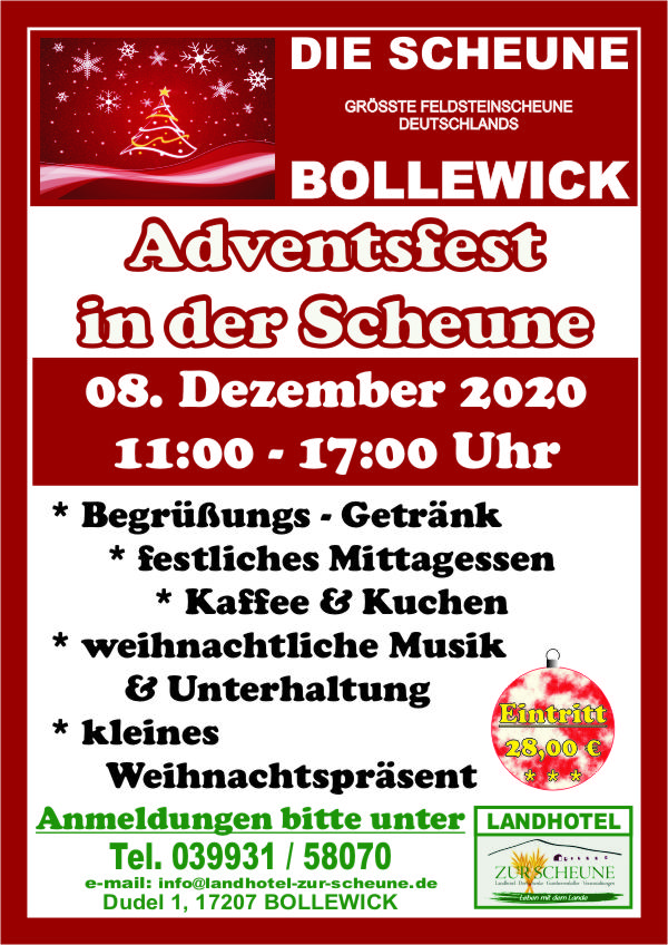 Plakat Adventsfest 2020